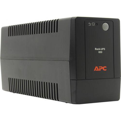 ИБП APC Back-UPS, 650VA, 325W, EURO, черный