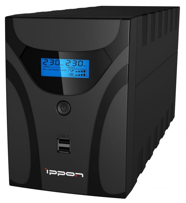 ИБП Ippon Smart Power Pro II 1200, 1200VA, 720W, IEC, USB, черный